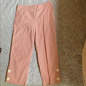 Gingham Striped Capri Pants